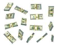 Set of money in different view isolated on a white. Royalty Free Stock Photography