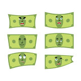 Set money. Dollar with emotions. Stock Photography
