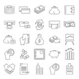 Set of money and finance line icons for web and mobile design. Set of money and finance line icons Stock Images