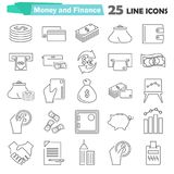 Set of money and finance line icons for web and mobile design. Set of money and finance line icons Stock Photography