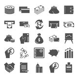 Set of money and finance simple icons for web and mobile design. Set of money and finance simple icons Royalty Free Stock Images
