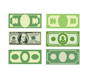 Set Money icon dollars, cash. Various paper money Stock Photo