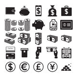 Set of money icons. Vector illustration Royalty Free Stock Photos
