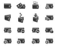 Set of money icons Stock Photos