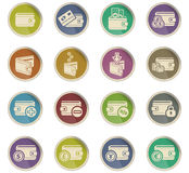 Set of money icons Stock Photography