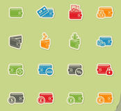 Set of money icons Stock Photos