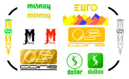 Set of Money logos and icons. Stock Images