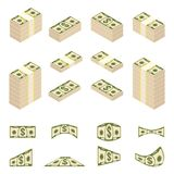 Set of money peel Stock Photos