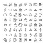 Set of money thin line icons. Stock Photography