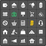 Set of 25 money web and mobile icons. Vector. Stock Photography