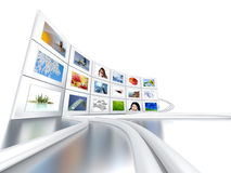 Set of monitors Stock Photos