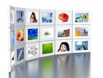 Set of monitors Royalty Free Stock Image