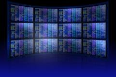 Set of monitors with matrix Royalty Free Stock Photo