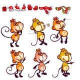 Set monkey Royalty Free Stock Photography
