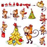 Set 2016 monkey Royalty Free Stock Photo