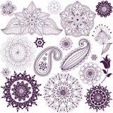 Set monochromatic design elements stock illustration