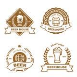Set monochromatyczni odznaki, loga i projekta elementy, Fotografia Stock