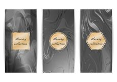 Set of luxury marble backgrounds stock illustration