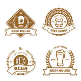 Set of monochrome badge, logo and design elements Stock Photography