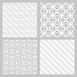 Set of 4 monochrome elegant seamless patterns Stock Photos