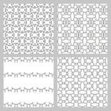 Set of 4 monochrome elegant seamless patterns Stock Image