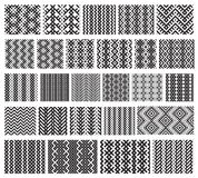 Set of 26 monochrome elegant seamless patterns Royalty Free Stock Images