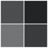 Set of 4 monochrome elegant seamless patterns Stock Photos