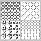 Set of 4 monochrome elegant seamless patterns. Vector pattern as a gray diagonal bars on a white background. Seamless pattern. Monochrome elegant seamless Royalty Free Stock Image