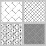Set of 4 monochrome elegant seamless patterns. Vector pattern as a gray diagonal bars on a white background. Seamless pattern. Monochrome elegant seamless Stock Photos