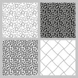 Set of 4 monochrome elegant seamless patterns. Vector pattern as a gray diagonal bars on a white background. Seamless pattern. Monochrome elegant seamless Royalty Free Stock Photography