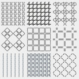 Set of 4 monochrome elegant seamless patterns Royalty Free Stock Photography