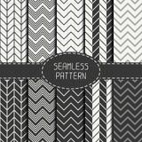 Set of monochrome fashion geometric seamless Royalty Free Stock Photos