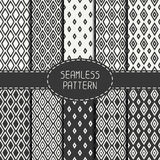Set of monochrome geometric seamless pattern with Royalty Free Stock Images