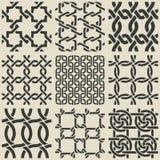 Set of monochrome geometric seamless patterns Stock Photography