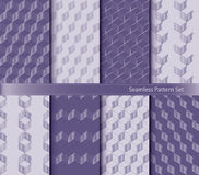 Set of monochrome geometrical patterns Royalty Free Stock Images