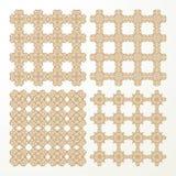 Set monochrome geometrical seamless patterns. Stock Photos