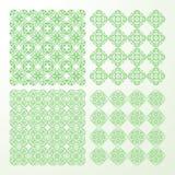 Set monochrome geometrical seamless patterns. Royalty Free Stock Photography