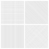 Set of monochrome hatch seamless patterns Stock Photos