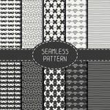 Set of monochrome hipster fashion geometric Stock Image