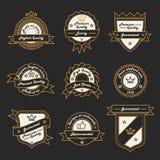 Set of Monochrome Hipster Vintage Label, Logo and Badge Templates. Trendy Line Design. Stock Photos