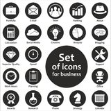 Set of monochrome icons for business in vector Stock Photos