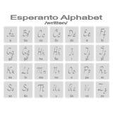 Set of monochrome icons with esperanto alphabet Stock Images
