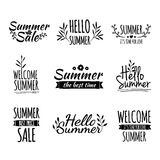Set of monochrome retro vintage logos, icons Royalty Free Stock Photos