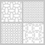 Set of 4 monochrome seamless patterns Royalty Free Stock Image
