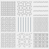 Set of 4 monochrome seamless patterns Royalty Free Stock Images