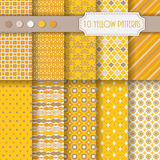 Set of monochrome vector seamless patterns Royalty Free Stock Photo