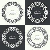 Set of monogram line vintage frames Stock Images