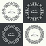 Set of monogram line vintage frames Stock Image