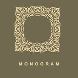 Set of monogram logo template Stock Photo