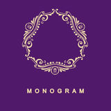 Set of monogram logo template Stock Photo